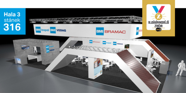BRAMAC, přední český výrobce a dodavatel střešních krytin a doplňků, přivítá návštěvníky veletrhu Střechy Praha 2019 na stánku, který bude oproti minulému ročníku o 60 m2 větší. Důvodem je společná expozice sfirmou ICOPAL VEDAG, která je stejně jako BRAMAC součástí nadnárodní skupiny BMI Group. Na jednom výstavním stánku tak budou prezentovány tři značky zportfolia skupiny: BMI BRAMAC, BMI ICOPAL a BMI VEDAG. Velkou premiéru bude mít na veletrhu střešní taška Classic AERLOX. Tato unikátní novinka zdílny společnosti BRAMAC představuje další technologický posun ve výrobě betonových tašek a na trhu nemá zatím obdoby. (Zdroj: BRAMAC)