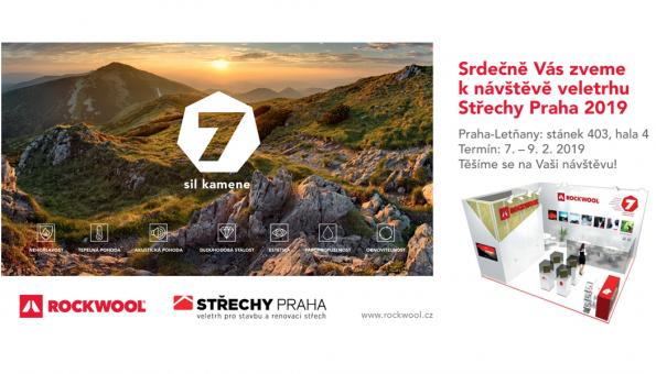 Přijměte pozvání na 21. ročník stavebního veletrhu Střechy Praha 2019,kde vám ve dnech 7.–9. 2. rádi představíme výrobky a systémová řešení svyužitím sedmi předností kamenné vlny. Vše sdůrazem na požární bezpečnost, akustickou pohodu a úsporu energií. (Zdroj: ROCKWOOL)
