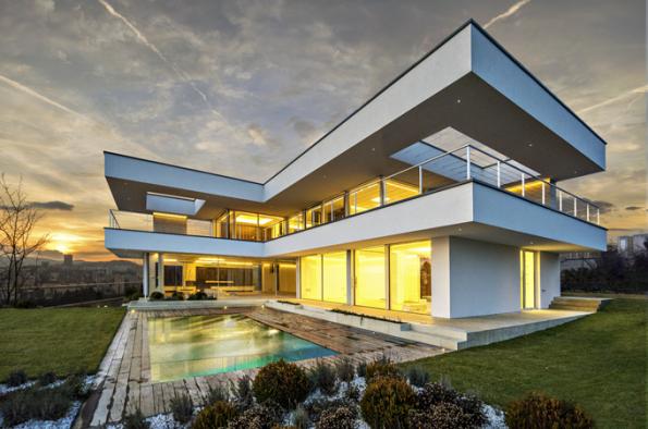 HLASOVÁNÍ ČTENÁŘŮ  Domy nad 150 m2  1. místo získal dům, jehož autory jsou architekti Martin Kareš aRobert Rais (soutěžní kód N26)