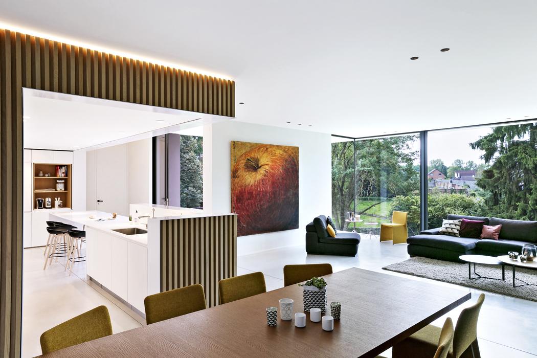 Kuchyň má podobu kvádru vloženého doobývacího prostoru.