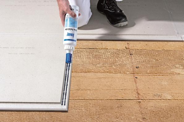 Jednovrstvá suchá sádrovláknitá podlaha Knauf Brio (Zdroj: Knauf)