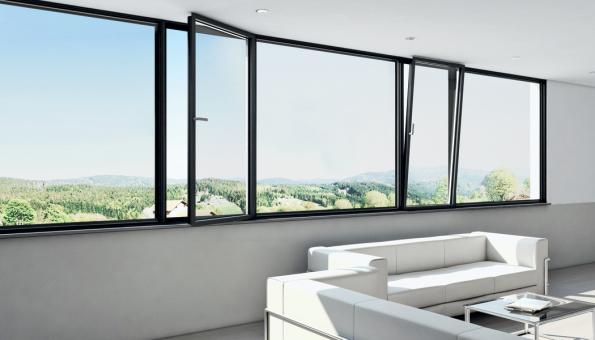 iF Design Award 2019 v kategorii Produkt: Panoramatický okenní systém Schüco AWS 75 PD.SI v čistém designu lícujících profilů (Zdroj: Schüco)