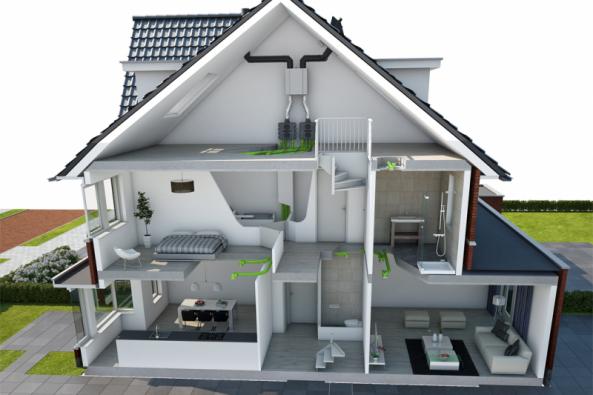 Pro trvale zdravé prostředí je vnízkoenergetických domech rozhodující kvalitní vzduchotechnika. Sjejími rozvody je proto vhodné počítat již vprojektu (ŠTORC TZB)
