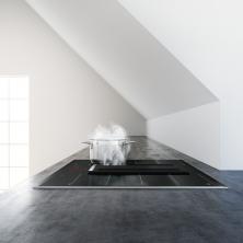 Bosch představuje novou indukční varnou desku, která se díky integrovanému odsávání postará i o čistý vzduch v kuchyni. Novinka v sobě skrývá to nejlepší z obou oblastí, šetří místo a nabízí maximální flexibilitu při plánování kuchyně. (Zdroj: Bosch)