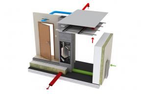 Společnost Schiedel, přední evropský výrobce kvalitních komínových systémů, uvede v polovině roku na náš trh zcela nový systémem řízeného větrání s rekuperační jednotkou pod názvem KombiAir. Hlavní výhodou systému KombiAir je bezkonkurenčně nízká hlučnost během provozu a prostorová kompaktnost díky unikátnímu svislému řešení. KombiAir je odpovědí společnosti Schiedel na stoupající nároky na energetické úspory, na které úspěšně reaguje již několik let. (Zdroj: Schiedel)