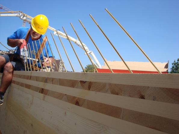 Asi nejvíce citovanou technologií v oblasti dřevostaveb je křížem lepené dřevo, respektive CLT panely. (Foto: Stora Enso)