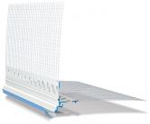 Zakončovací profil s transparentní okapničkou a tkaninou (Zdroj: HPI-CZ)