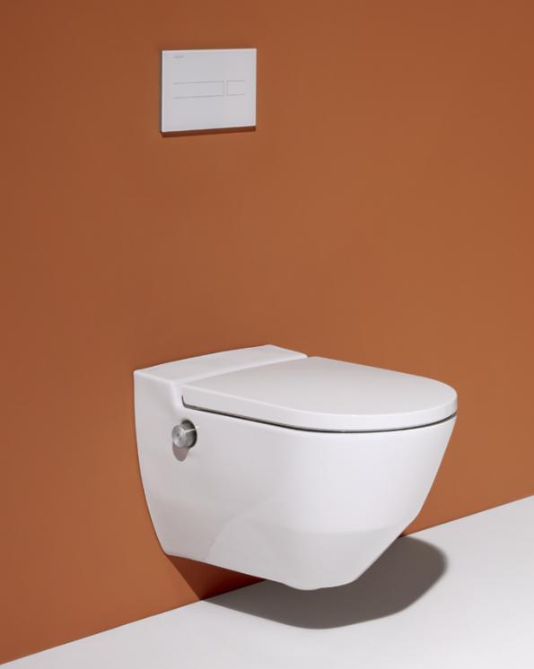 Toaleta Cleanet Navia s bidetovou sprškou, kterou představila společnost Laufen (Zdroj: LAUFEN)