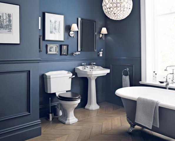 Uklidňující, s nádechem starých časů a luxusu, přesně takové jsou kolekce koupelen Heritage. Na fotografii série Granley (Zdroj: KOUPELNY PTÁČEK)