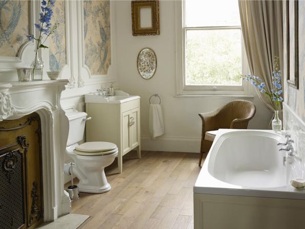 Uklidňující, s nádechem starých časů a luxusu, přesně takové jsou kolekce koupelen Heritage. Na fotografii série Dorchester (Zdroj: KOUPELNY PTÁČEK)