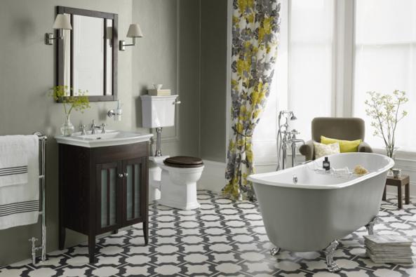 Uklidňující, s nádechem starých časů a luxusu, přesně takové jsou kolekce koupelen Heritage. Na fotografii série Blenheim (Zdroj: KOUPELNY PTÁČEK)