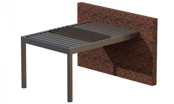 Pergolu ARTOSI lze sestavit až 5 způsoby, v kombinaci volně stojící či kotvená do zdi. Montáž je možné provést svépomocí. (Zdroj: ISOTRA)
