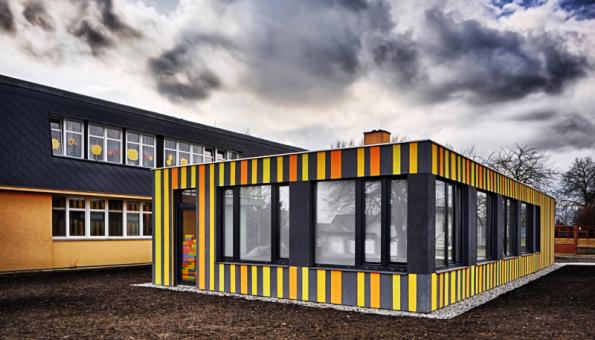 Obnova fasády, MŠ Kamenný Újezd (Zdroj: Baumit)