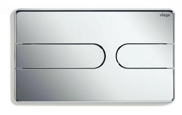 Jemné geometrické tvary vládnou koupelnám čím dál více, což zohledňuje ovládací deska Visign for Style 23. Se svými změkčenými tvary a úhly potvrzuje, že trend směřuje k bydlení, které vzbuzuje emoce. Pěkným designovým detailem je u této ovládací desky linka tlačítek až k vnějšímu okraji. Deska se zaoblenými rohy připomíná svým tvarem tablet nebo chytrý telefon. S deseti barevnými variantami, volitelně tón v tónu nebo v kontrastním dvoubarevném provedení nabízí Visign for Style 23 rozmanité možnosti pro jedinečnou koupelnovou architekturu. (Foto: Viega)