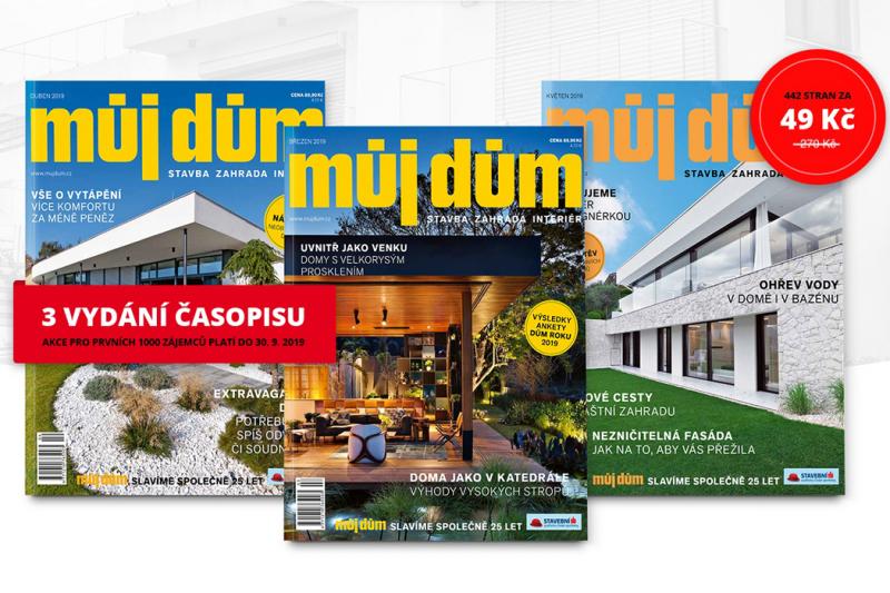Získejte tři luxusní časopisy o bydlení za pouhých 49 Kč!