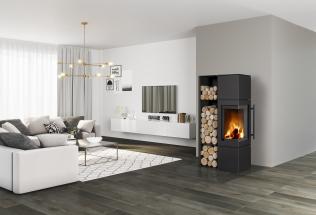 Vdnešní době, kdy se u moderních domů rapidně snižuje potřeba energie na vytápění, bylo třeba reagovat na požadavky zákazníků. Proto firma Romotop zařadila do svého portfolia krbová kamna Lugo N, Luanco N a Esquina N. (Zdroj: Romotop)