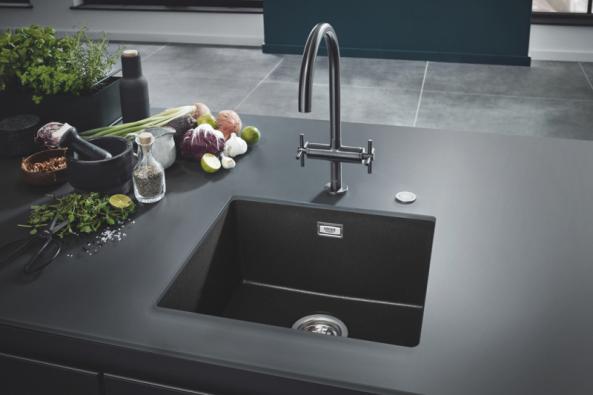 GROHE Kitchen Solutions Composite Sinks – Granite Black (Zdroj: GROHE)