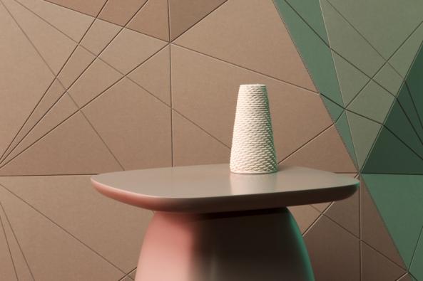 Wood-Skin je nový koncept obkladů z elementů na bázi dřeva s dýhovaným nebo jinak upraveným povrchem. Umožňuje vytvořit plochu s jedinečným 3D efektem, každá stěna může být zcela originální. Více na www.wood-skin.com