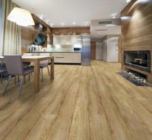 A takto vypadá laminátová podlaha 1Floor, kolekce Grande XXL, dekor Dub Ridgefield (KPP)