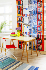 Nebojte se zařídit pracovnu rafinovaně. I tento prostor může vypadat zajímavě. Foto: Vallila