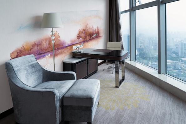 Jako dekorace pracovny jsou vhodné klasické i obrazové tapety. Foto: Vavex, kolekce tapet My Dream, design Iva Bastlová