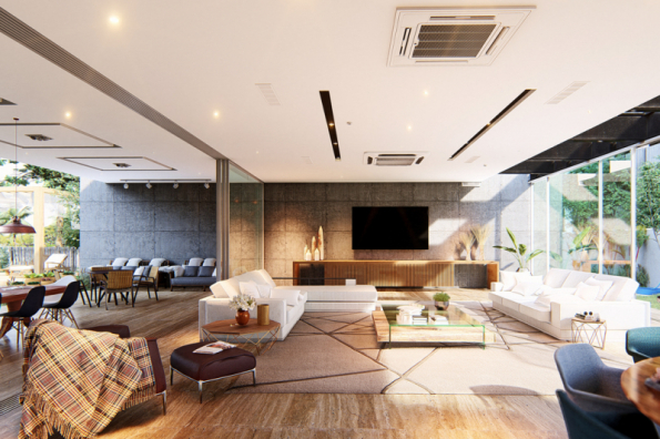 Návrh interiéru může vypadat téměř jako fotografie. Zde vizualizace softwarem Lumion 3D