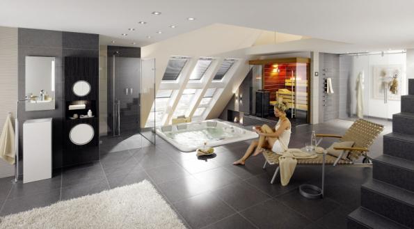 Ukázka skvělého využití prostoru umístěním domácího wellness a vytvoření klidné relaxační atmosféry (RAKO)