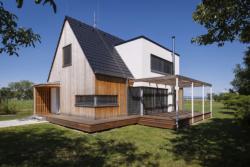 D24 - Dřevostavba s hranolem ve střeše