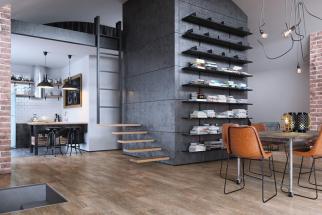 Vinylové podlahy Fatra RS–click vás ohromí propracovaným designem, rychlou a snadnou pokládkou bez lepení, výbornou zvukovou izolací a antibakteriální povrchovou úpravou (zdroj: svetpodlah.cz)