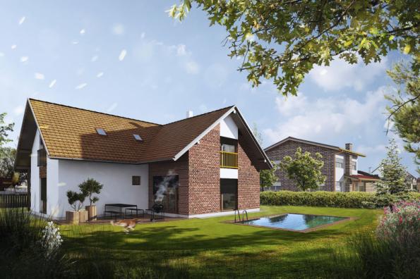 2. místo získal dům Marie 8.01, soutěžní kód K013, projekt e4 domy Wienerberger