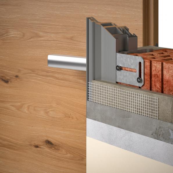 Otevírání reverzních dveří je směrem od sebe z pohledové strany. Skryté zárubně jsou osazeny dveřmi s polodrážkou. (Zdroj: Masonite)