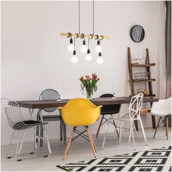 Jestli si nějaká část domova zaslouží okázalé osvětlení, pak je to jídelna. (Zdroj: www.eglo.cz)