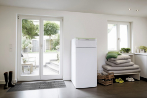 Tepelná čerpadla flexoTHERM exclusive patří k nové produktové řadě Vaillant Green iQ a jsou zkonstruovaná pro využívání všech alternativních zdrojů energie (VAILLANT)
