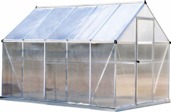 Skleník Palram Multiline má odolný plášť z polykarbonátu, rozměry 185 x 310 cm, výška 209 cm. Koupíte jej v síti prodejen Hornbach za 9 990 Kč