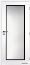Masonite dveře CLARA TAMPA sklo, bílé, černý rámeček (Zdroj: Masonite)
