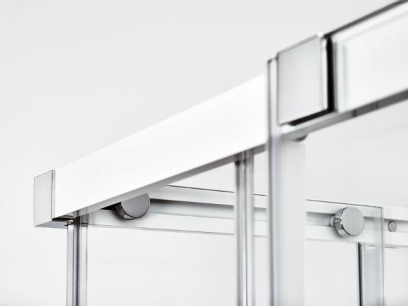 Sprchové kouty a dveře Matrix s posuvným systémem dvoudílných dveří s bezúdržbovými nerezovými ložisky zaručující bezporuchové a tiché otevírání a zavírání (RAVAK)