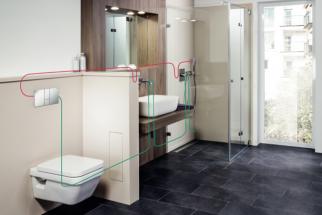 S použitím vhodných komponent se doporučuje realizovat rozvody potrubí pro pitnou vodu do takzvané okružní instalace, aby se eliminovala odběrná místa ve slepých ramenech. Voda tak může neustále proudit v celém systému. (foto: Viega)