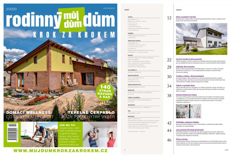 Vyšlo nové číslo časopisu Rodinný dům krok za krokem!