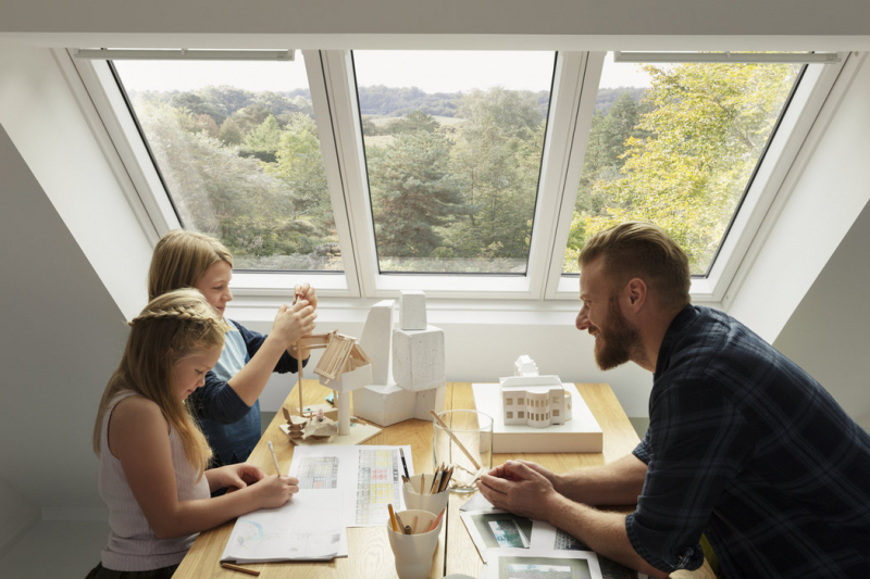 VELUX STUDIO prosvětlí interiér a opticky zvětší prostor