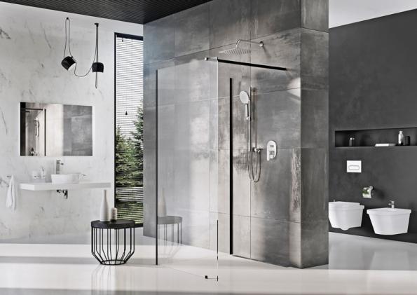 Sprchový kout walk-in se dvěma skleněnými stěnami (RAVAK)