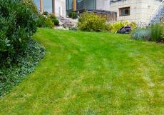 Ve svahu bude těžké udržet okrasný trávník v dobré kondici. Na koruně bude zřejmý nedostatek vody i živin, ty se budou naopak hromadit u paty svahu