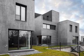 Bytový dům Origami Praha 6 – kreativní technika kartáčování