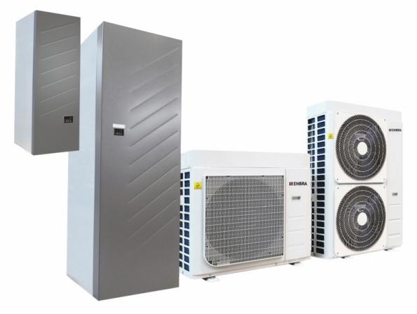 Moderní, úsporný zdroj tepla s možností chlazení. Prostřednictvím volitelného wi-fimodulu je zařízení připraveno pro integraci do moderních systémů dálkového dohledu a řízení tzv. Internetu věcí (ENBRA)