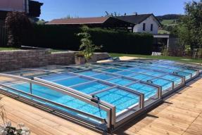 Ukázka nízkého zastřešení bazénu (zdroj: Alupo)