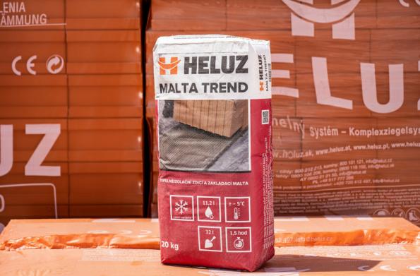 HELUZ TREND tepelněizolační zdicí a zakládací malta - zimní