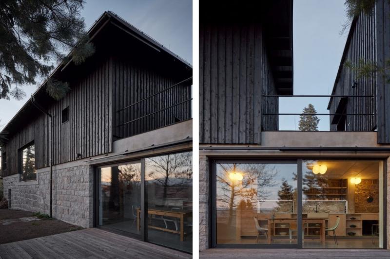 Dům za zdí: Na starých kamenných základech vyrostlo moderní bydlení