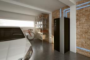 Bateriová stanice AES v garáži - vizualizace
