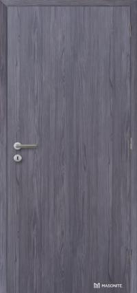 Plné dveře v odolném CPL povrchu se svislým dřevodekorem fleetwood lávověšedý (Masonite)