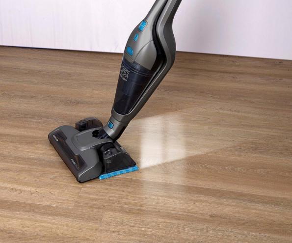 """Akumulátorový tyčový vysavač 4v1 s mopem a vyjímatelnou ruční jednotkou vysává i vytírá všechny typy podlah. Má výměnný motorový rotační kartáč """"Cat & Dog Mini"""" (SENCOR)"""
