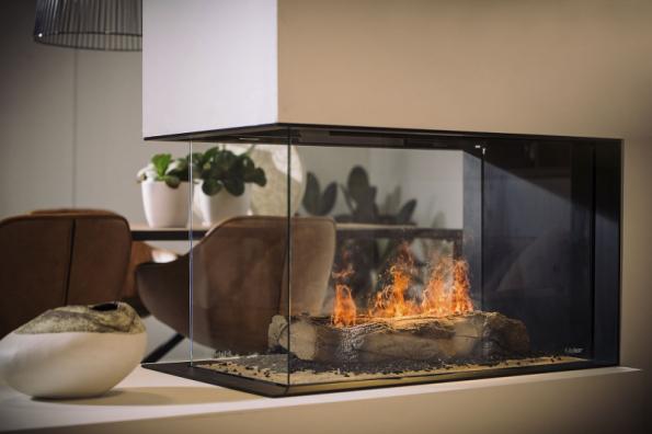 Elektrický krb Faber e-MatriX je představitelem toho nejvěrohodnějšího elektrického ohně vytvořeného nejmodernější technikou. Potěší, zahřeje výkonem 2 kW a nehrozí požárem (PALÁC KRBŮ)